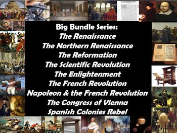 Big Bundle The Renaissance to Spanish Rebellions Power Points, Worksheets, Notes