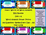 Big Bundle - Year's Worth of Word Analysis & Reference Mat