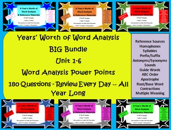 Big Bundle - Year's Worth of Word Analysis & Reference Mat