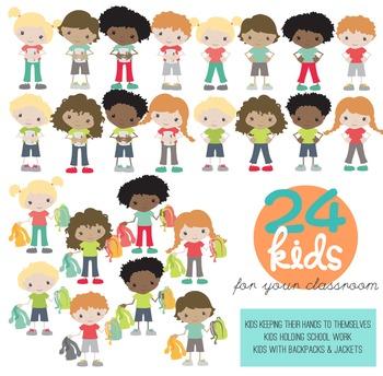 Big Bundle of Classroom Kids Clipart