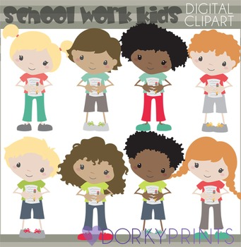 Big Bundle of Classroom Kids Clipart
