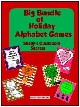 Big Bundle of Holiday Alphabet Games
