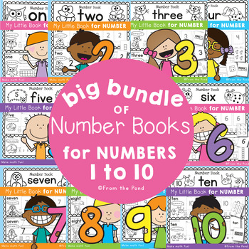 Numbers 1-10 - Number Books Big Bundle