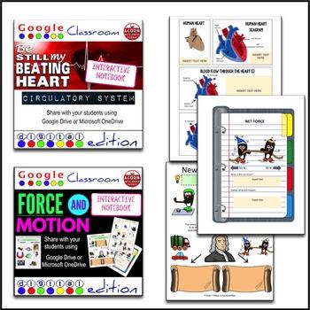 Big Bundle of Science Digital Interactive Notebooks