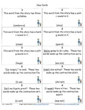 Big Bushy Mustache Bingo Game ~ Language Arts Activity
