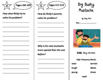Big Bushy Mustache Trifold - Storytown 2nd Grade Unit 3 Week 3