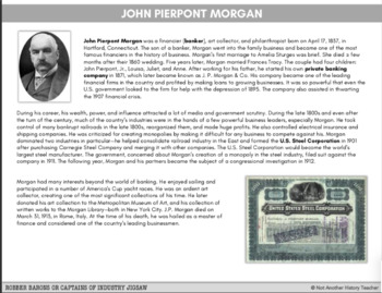 Robber Barons or Captains of Industry | Jigsaw Activity