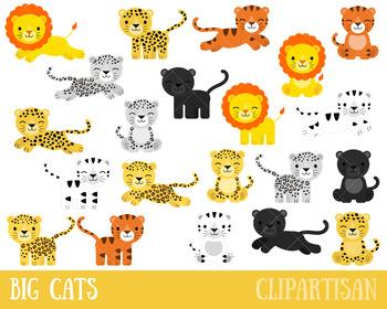 Big Cats Clip Art, African Animals, Safari Animals