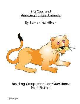Big Cats and Amazing Jungle Animals: Non-Fiction Book