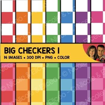 Digital Paper - Big Checker Backgrounds 1