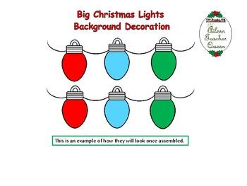 Big Christmas Lights Background Decoration