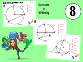 Big Circle Question Angle Practice