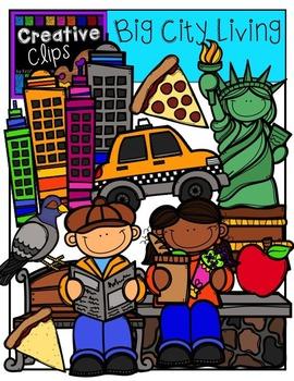 Big City Living {Creative Clips Digital Clipart}
