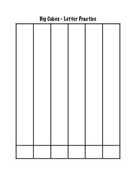 Big Cubes- Recording Sheets