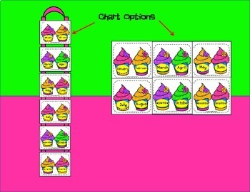 Birthday Chart - Big and Bright Cupcakes