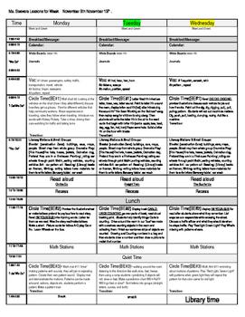 Big Day Lessons Unit 3 Week 3