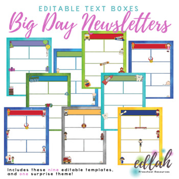 Big Days Newsletter Template Mega Pack for WORD