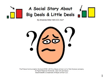 A Social Story about Big Deals & Little Deals