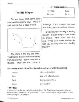 Big Dipper Reading