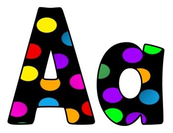 Big Dot Upper and Lower Case letters