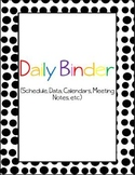 Big Dots Daily Binder {freebie}