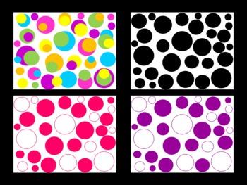 Big Dots Digital Papers (Backgrounds)