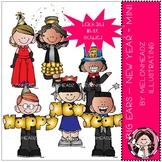 Big Ears clip art - New Year - Mini - Melonheadz Clipart