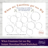 Big Emotions Calm Down Worksheet