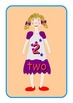 Big English Numbers 0 to 10  Flashcards .Cute dolls pictur