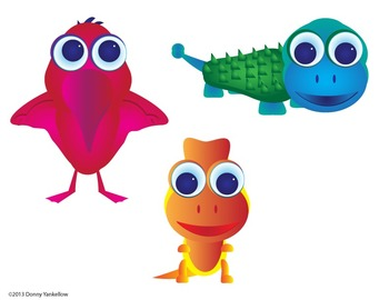 Big Eye Buddies Dinosaurs Clip Art and More