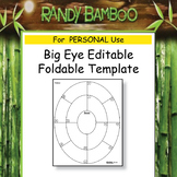 Big Eye Editable Foldable Template #4 - PERSONAL Use