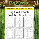 Big Eye Editable Foldable Template BUNDLE-COMMERCIAL Use