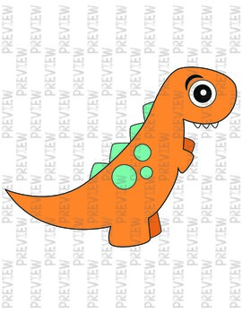 Big-Eyed Dinosaur Clipart