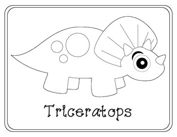 Big-Eyed Dinosaur Themed Coloring Pages