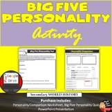 Big Five Personality Comparison Activity and Test (Print a