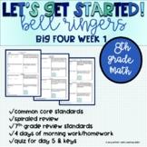 Big Four Bellringers 8th Grade Math Common Core - Week 1