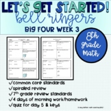 Big Four Bellringers 8th Grade Math Common Core - Week 3