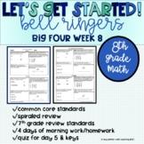 Big Four Bellringers 8th Grade Math Common Core - Week 8