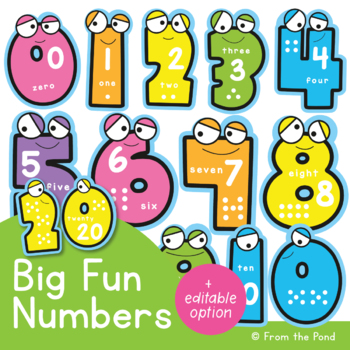 Big Fun Numbers - Classroom Number Display