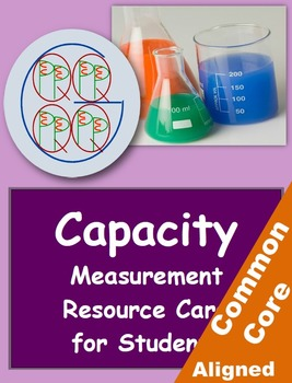 """Big G"" Capacity Measurement Resource Card"
