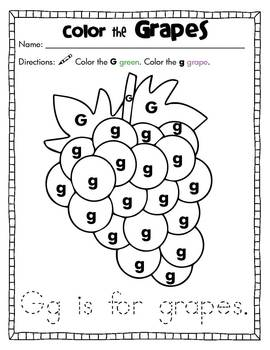 Big G, Little g What Begins With G? {Letter of the Week Activities}