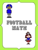 Football, Big Game Math Stats (Football, Fractions, Decimals, Percents)