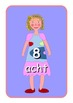Big German Numbers 0 to 10  Flashcards .Cute dolls picture