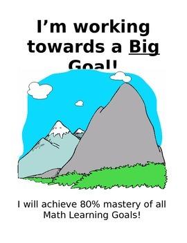 Big Goal Folder Materials