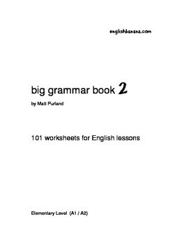 Big Grammar Book - 101 worksheets