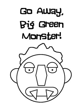 photograph relating to Go Away Big Green Monster Printable Book identify Massive Eco-friendly Monster (Ed Emberley) Printable
