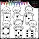 Big Grin Dice Kids - Clip Art & B&W Set