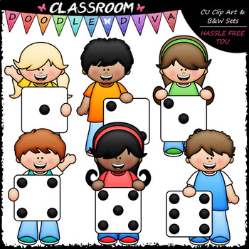 Big Grin Dice Kids - Clip Art & B&W Set