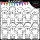 Big Grin Dressed For Summer Kids - Clip Art & B&W Set