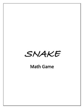 Big Group Math Game